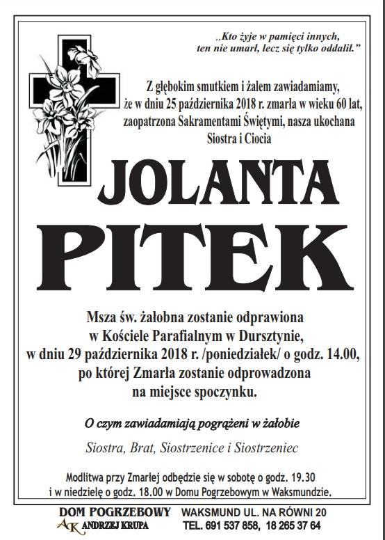 ODESZŁA DO PANA + Jolanta Pitek